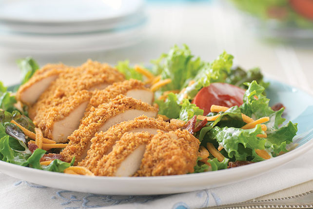 Image result for crispy chicken with salad