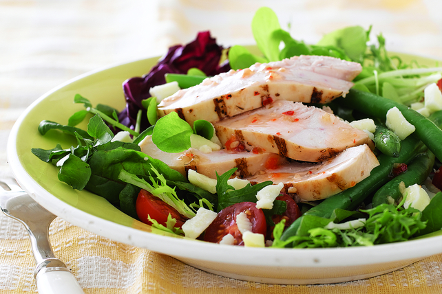 Rustic Chicken Salad with Spring Vegetables Image 1