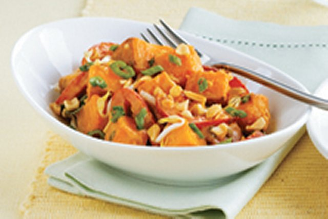 Warm Sweet Potato Salad with Chipotle-Peanut Dressing Image 1