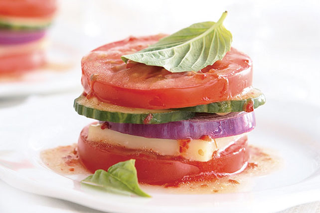 Garden Vegetable Stack Recipe