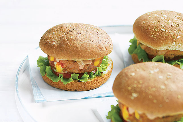 Southwest-Stuffed Hamburgers