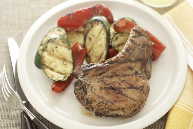 Côtelettes de porc piquantes et légumes grillés Image 1