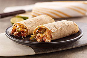 Cheesy BBQ Chicken Wraps