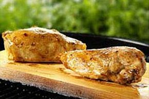 Cedar-Planked Honey-Spiced Chicken
