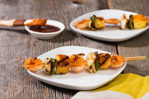Pineapple & BBQ Shrimp Kabobs