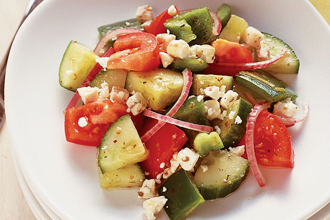 Quick Greek Salad for Two Image 1