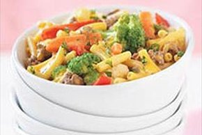 Beef, Vegetable and Shells Skillet