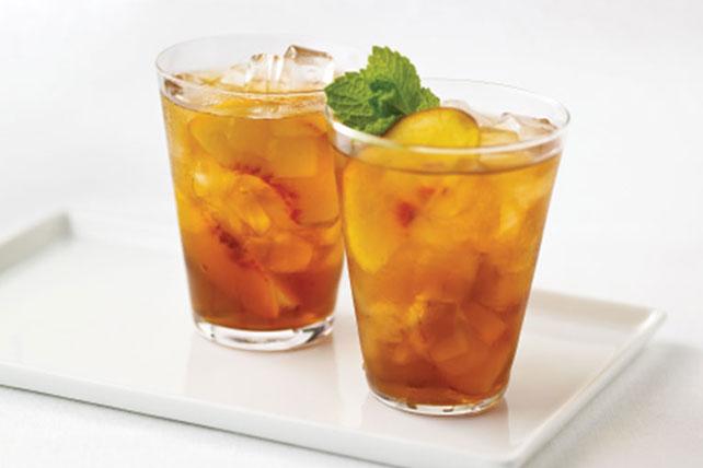 Sparkling Peach Tea - My Food and Family