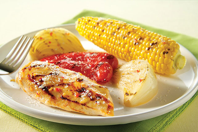 Grilled Chicken & Vegetables Parmesan Image 1