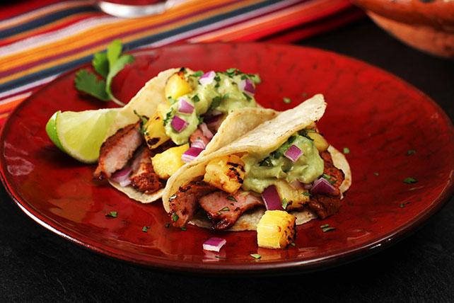 Tacos estilo al pastor a la parrilla Image 1