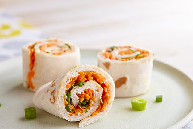 Carrot-Raisin Pinwheels