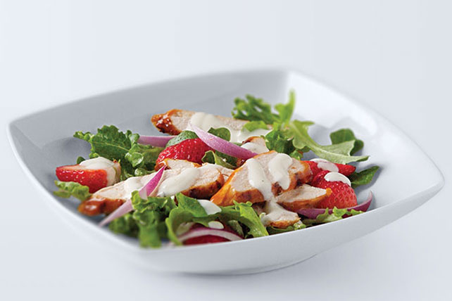 BBQ Chicken & Fresh Strawberry Salad Image 1