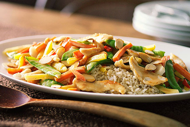 Chicken-Almond Stir-Fry