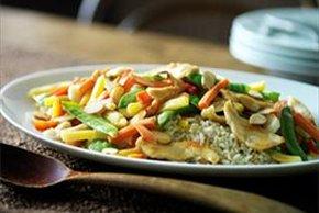 Chicken-Almond Stir-Fry