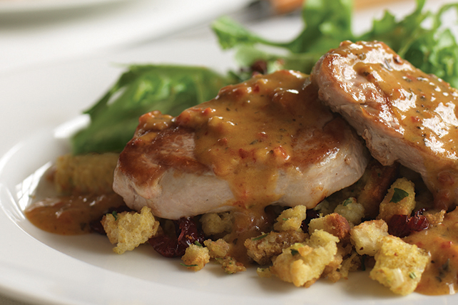 Pork Medallions with Cranberry Stuffing Image 1