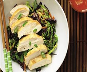 Asian Chicken with Cabbage Slaw