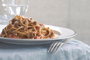 Facilísimos espaguetis a la boloñesa