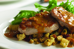 Pork Medallions with Cranberry Stuffing
