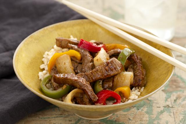 Salteado de carne de res estilo oriental Image 1