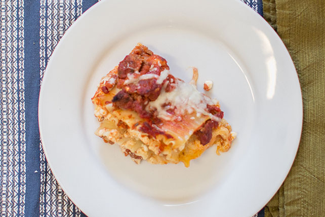 Healthy Living Cheesy Meat Lasagna Recipe