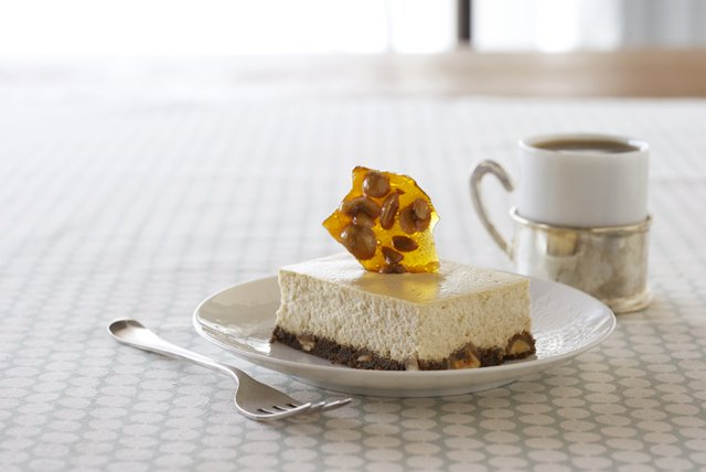 Coffee and Hazelnut Brittle Cheesecake Image 1