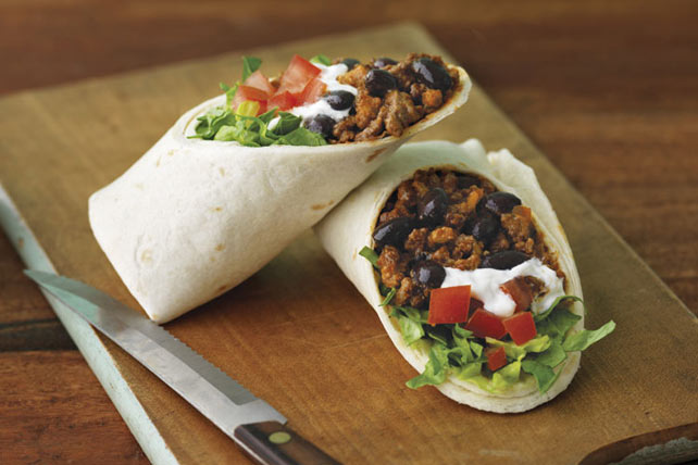 Cheesy Beef Burritos Image 1