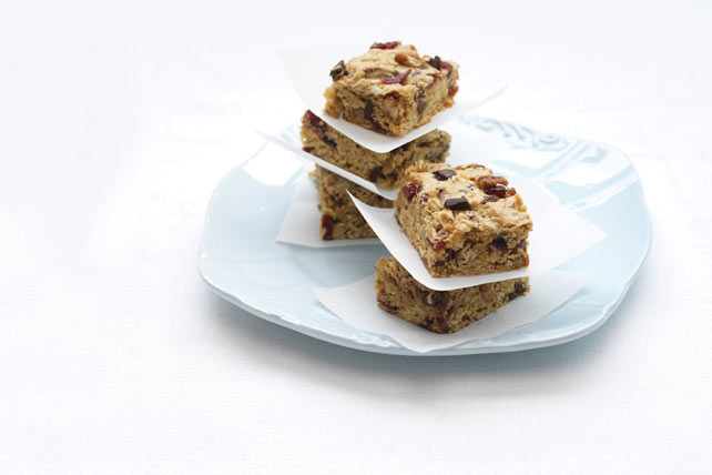 Chocolate, Cranberry & Oat Bars Image 1