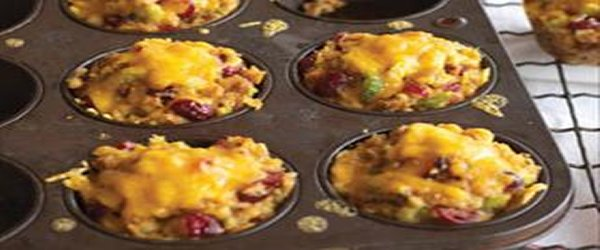 Cheesy Stuffing Cups