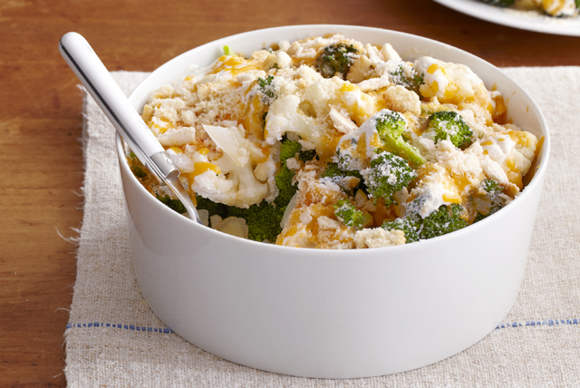 Easy Cauliflower & Broccoli au Gratin Image 1