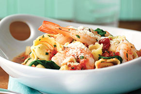 Shrimp, Tortellini & Spinach