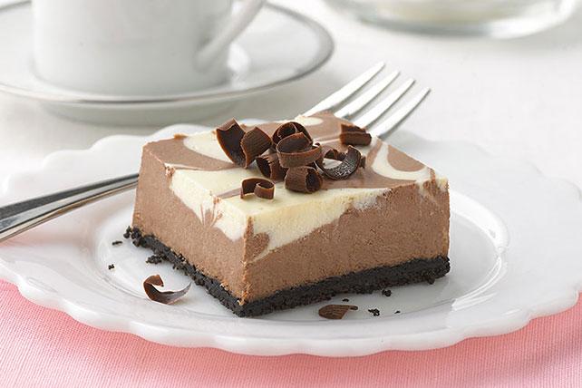 Cheesecake Philadelphia con remolinos de chocolate y vainilla Image 1