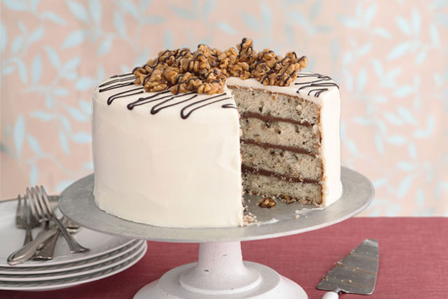 Walnut-Praline Cake with Cream Cheese Frosting