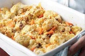 Horneado de vegetales con queso y chipotle