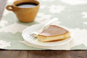 Flan de queso crema y piña