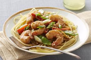 Sauté de crevettes au sésame à l'orientale