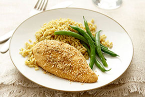Crisp Lemon-Oregano Breaded Chicken