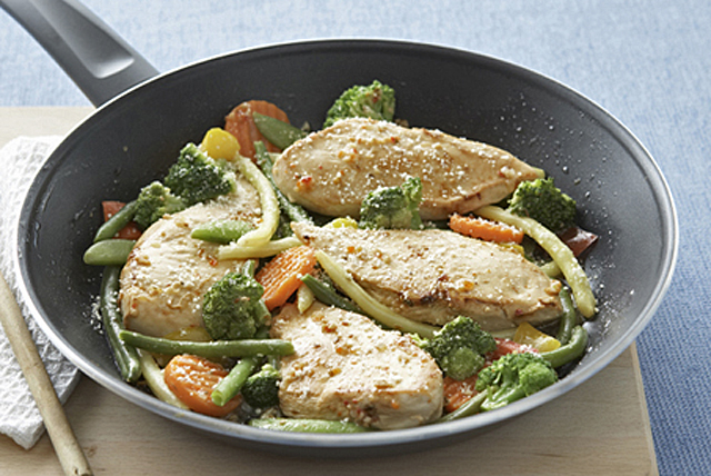 Skillet Chicken with Vegetables Parmesan Image 1