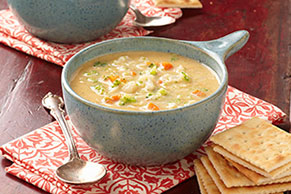 Velvety Vegetable-Cheese Soup