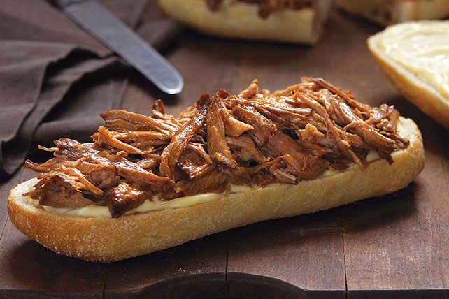 Slow-Cooker Orange-BBQ Pulled Pork Sandwiches Image 1