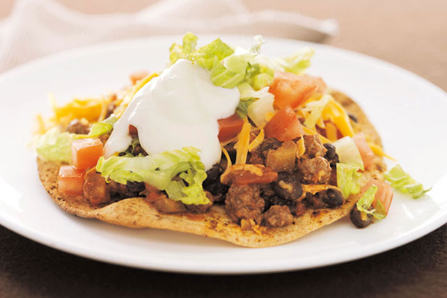 Cheesy Beef Tostadas - Kraft Recipes