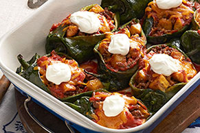 Beef and Plantain Chiles Rellenos