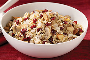 Cranberry, Almond and Mushroom Rice Pilaf