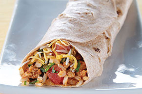 Cheesy Turkey & Rice Burrito