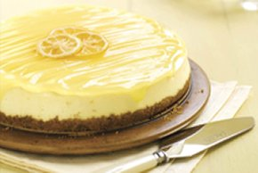 Lemon Curd-Topped Cheesecake
