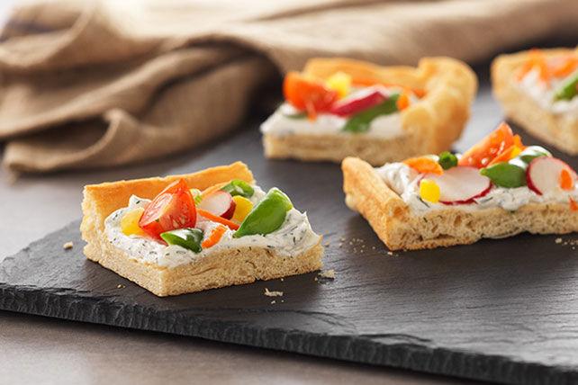 Bouchées de pizza végétarienne printanière Image 1