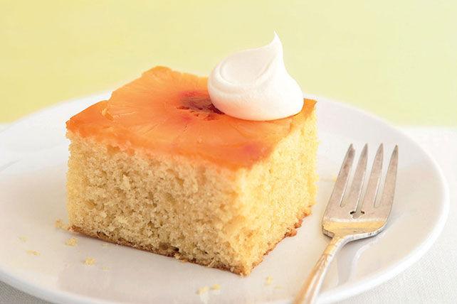 Gâteau renversé ensoleillé