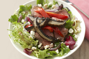 Sizzling Sirloin and Portobello Salad