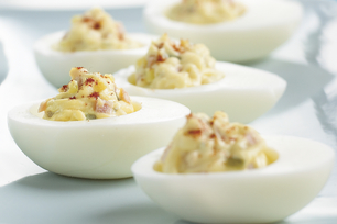 Easy Devilled Eggs & Ham