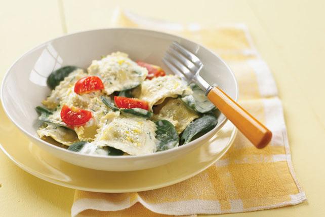 Raviolis crémeux aux épinards et au parmesan Image 1