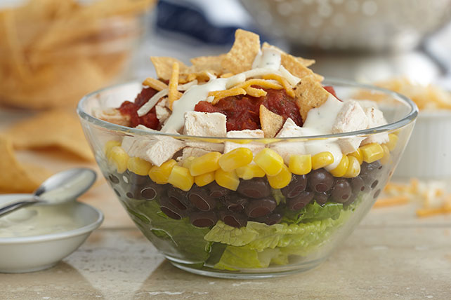 Simple Layered Fiesta Salad Image 1